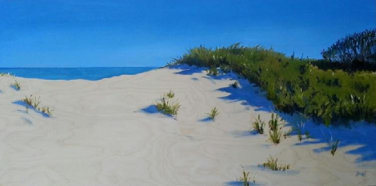 Alan Bull Dune Series #7 oil on canvas